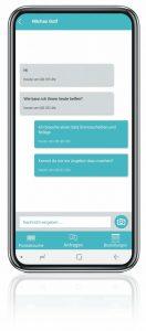 Autoteilemessenger Chat-Funktion